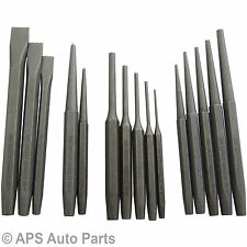 Heavy Duty 16pc Mechanics Engineering Punch and Chisel Set Pin Taper Cold Centre