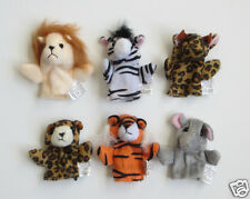 12 Wild Animal Kid Finger Puppets Zoo Safari Jungle Party Goody Bag Favor Supply