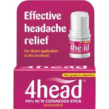 4HEAD STICK EFFECTIVE HEADACHE RELIEF 3.6G *