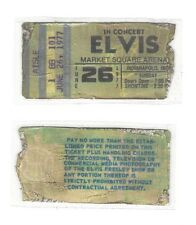 One ELVIS PRESLEY live concert REPLICA ticket stub June 26, 1977 Indianapolis IN