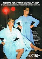 PUBLICITE ADVERTISING 034   1979   BOLERO  homewear  peignor chemise de nuit
