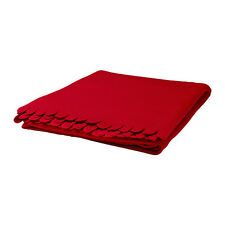 "IKEA Polarvide Fleece Throw Blanket 51 x 67"" RED Soft Great Gift NEW FREE SHIP"
