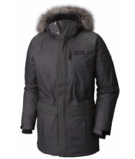 COLUMBIA Men's XL Alpine Escape Down Jacket Hooded Long Warm Winter Coat