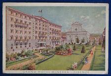 PUBBLICITARIA Grand Hotel Minerva FIRENZE illustrata no viag anni 50/60 FG#13272