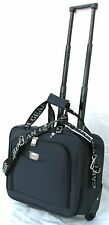 "15"" 30LB. CAP. NAVY BLUE ROLLING WHEELED LAPTOP BAG / BRIEFCASE/ CARRYON LUGGAGE"