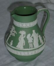 Wedgwood Jasperware White Green Etruscan Sacrifice Jug Water Pitcher Creamer