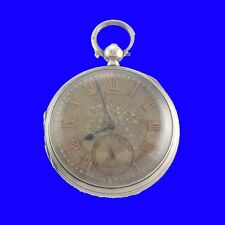 Substantial Silver Fusee KW John Forrest Silver & Gold Dialed Pocket Watch 1886