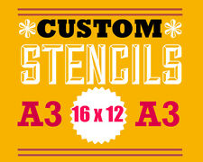 custom stencil A3 - personalised - supply jpeg of logo or picture