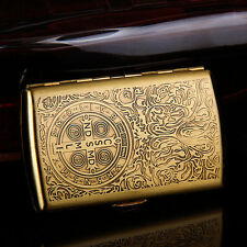 Pocket Cigarette Tobacco cigar Metal copper Storage Case Box Holder Constantine