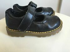 "Young Girls sz 9 DR. MARTENS ""MACCY"" black leather mary jane SHOES"