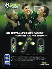 PUBLICITE ADVERTISING 104  2006  GILETTE MACH 3  gel rasage SPONSOR OFF GERMANY