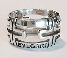 Bvlgari Hallmarked (925) Sterling Silver Ring  No Reserve