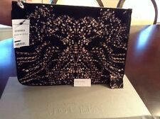 Alexander McQueen Jewelry-Print Oversized Satin Pouch/clutch/cosmetic bag