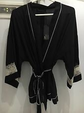 MARKS & SPENCER ROSIE AUTOGRAPH 10 PURE SILK DRESSING GOWN FRENCH LACE