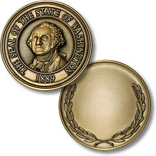 The Seal of The State of Washington / Engravable Wreath Coin