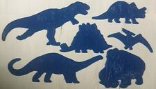 Children's Dinosaur Stencils Set T-Rex Woolly Mammoth Triceratops Art Drawing