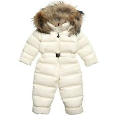 MONCLER BABY GIRLS CRYSTAL PEACH FUR SKI SNOW SUIT 3 YEARS