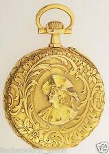 VACHERON & CONSTANTIN TASCHENUHR - PRUNKRELIEF IM JUGENDSTIL - 18ct GOLD 1910