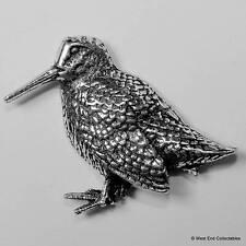 Stehend Waldschnepfe Zinn Brosche Britisch- Hand Gefertigt Spiel Vogel Shooting