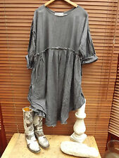 RITANOTIARA DRESS OSFA WASHED EUROPEAN LINEN STORM GREY PRAIRIE BOHO GYPSY PEARL