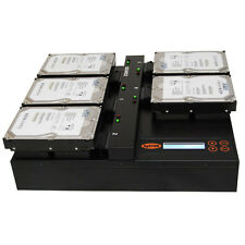 "Systor 1:4 HDD/SSD Cloner, Flatbed - Copy & Erase 3.5"" & 2.5"" Hard Drives"