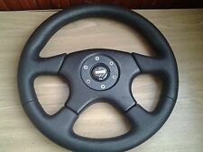 Rare new perforated leather  MOMO  black steering wheel 36cm  Mercedes bmw