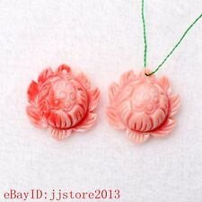 22mm Pink White Shell MOP Flower Shape Gemstone Accessories Loose Beads 1 Pcs