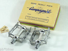 "Campagnolo Track Pedal Set Nuovo Record 9/16"" Vintage Pista Bicycle NOS"