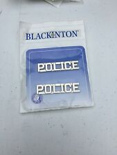 POLICE Collar Brass 1/2 Inch Nickel Plate Police Combo Blackinton J116 New