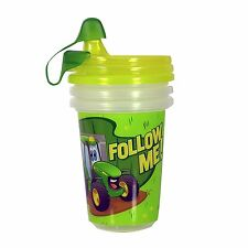 NEW John Deere Take & Toss Sippy Cups 3 Pack with Bonus Travel Cap TBEKY9613A1