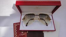 VINTAGE CARTIER RED LAQUE DE CHINE 62MM LARGE 1983 SUNGLASSES 18K GOLD FRANCE