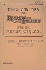 ~1935 ROYAL ENFIELD 346 CC MOTOR CYCLES OWNERS MANUAL BETRIEBSANLEITUNG ENGLISCH