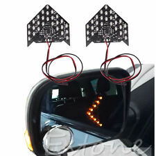 2Pcs 33 SMD LED Arrow Indicator Panels Light For Car Side Mirror Turn Signal New