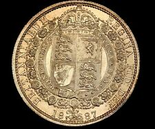 UK GREAT BRITAIN 1/2 HALF CROWN 1887 UNCIRCULATED MS++++ UNC SILVER VICTORIA