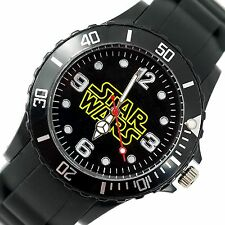 STARWARS STAR WARS FILM Stainless Steel BLACK SILICONE  SCI FI MOVIE DVD WATCH