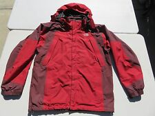 Mens The NORTH FACE Red Hyvent GORETEX Waterproof Hooded Ski Snow Jacket Large