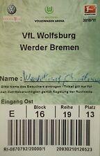 TICKET 2010/11 VfL Wolfsburg - Werder Bremen