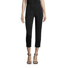NWT $265 Theory Alettah Approach Skinny Pants in Black Size 12