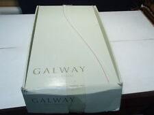 """6 Galway Large 8"""" Tralee Irish Crystal Wines in Box~~old new invertory"""
