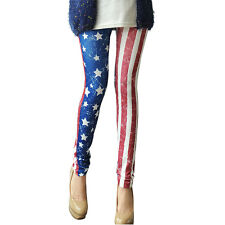PunkJewelry Fashion Tattoo Leggings USA Flagge EINHEITSGRÖSSE