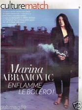 Coupure de Presse Clipping 2013 (3 pages) Marina Abramovic