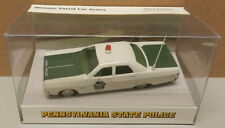 PA PENNSYLVANIA STATE POLICE PATROL PLYMOUTH FURY WHITE ROSE 1/43 1969 MATCHBOX