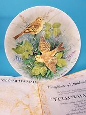 Yellowhammer Birds of the Hedgrow Royal Doulton Collector Plate.