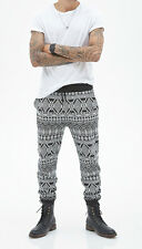 50% OFF! AUTH FOREVER 21 MEN'S TRIBAL PRINT JOGGERS SWEATPANTS X-SMALL US$24.90