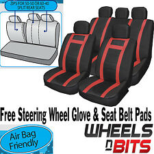 Fiat Stilo Panda Universal PU Leather Type Car Seat Covers Full Set Wipe Clean