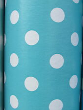 Vinyl PVC Tablecloth * Easy Wipe Clean POLKA DOT Spot Patio Oilcloth 140cm Wide*