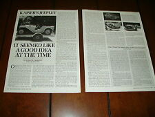 1942 KAISER JEEPLET JEEP  ***ORIGINAL 1990 ARTICLE***