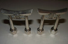 Pair/Mid-Century Sterling Silver Japanese Torii Gates Salt & Pepper Shakers