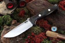 BARK RIVER BRAVO 1 BLACK CANVAS MICARTA FIXED BLADE