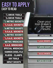 TOOL BOX LABELS Organize Wrenches Sockets & Tools Organize Cabinets fast & easy